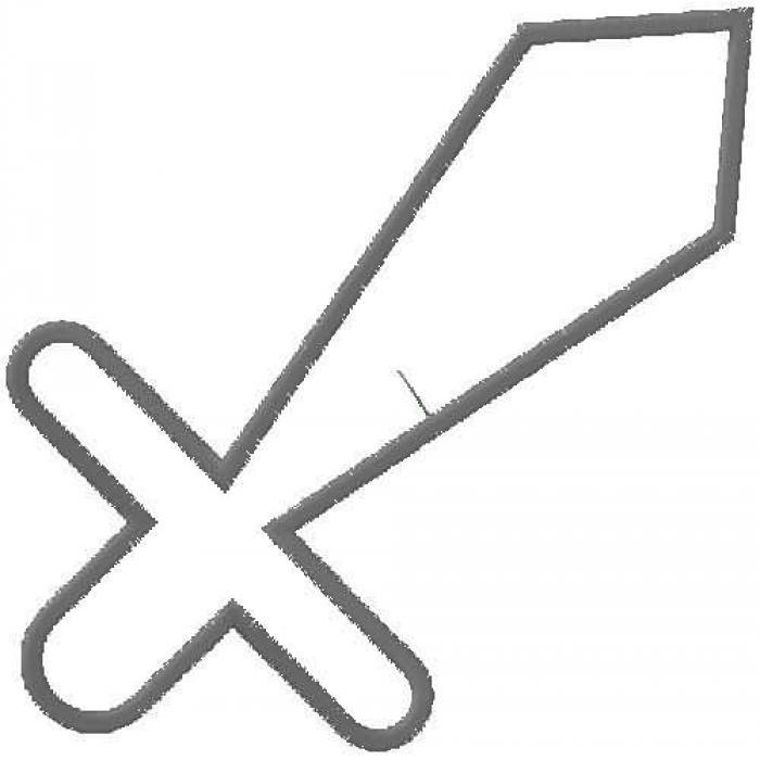 Knight sword clipart 2