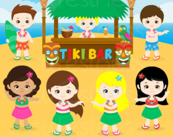 Luau baby clipart