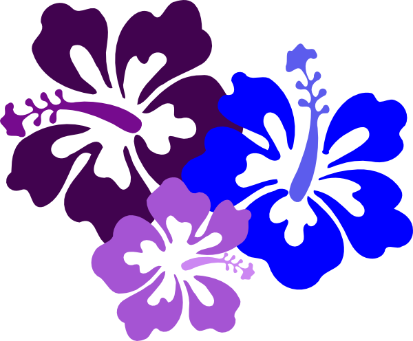 Luau black and white clipart