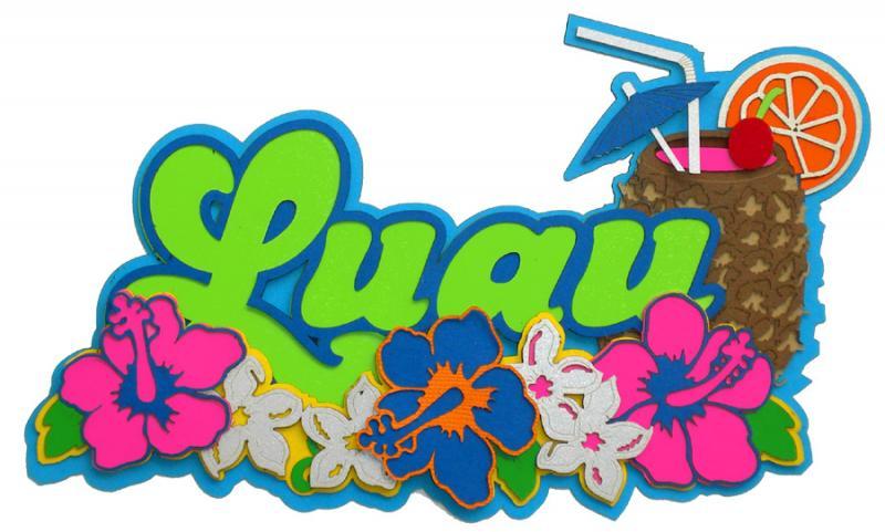 Luau clip art background