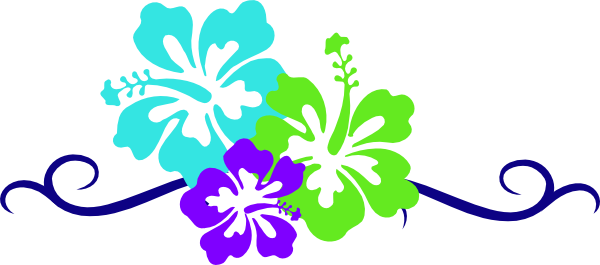 Luau flowers clip art borders free clipart 2