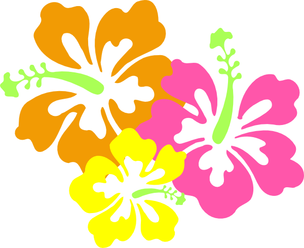 Luau flowers clip art borders free clipart