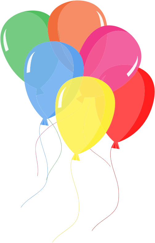 Microsoft balloons clipart
