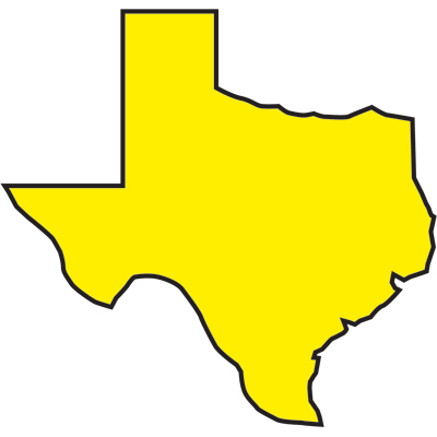 Outline of the state texas free download clip art