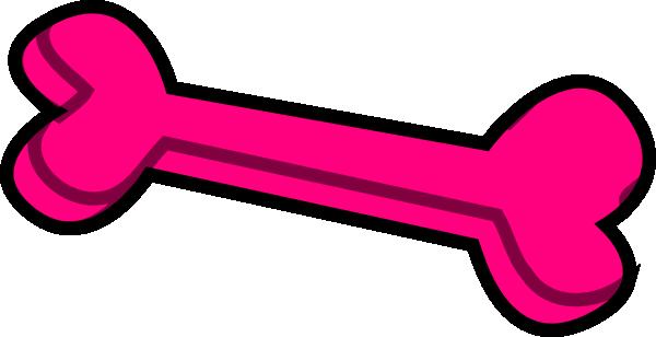 Pink dog bone clip art at vector image