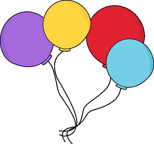 Purple balloons clipart 2