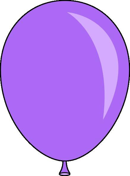 Purple balloons clipart 3