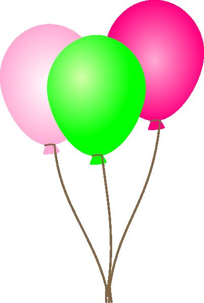 Purple balloons clipart 4