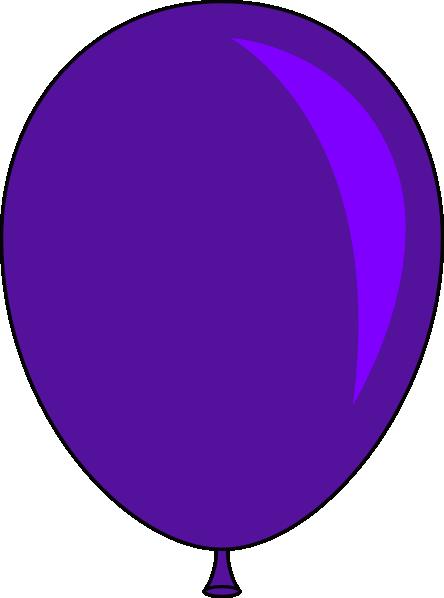Purple balloons clipart