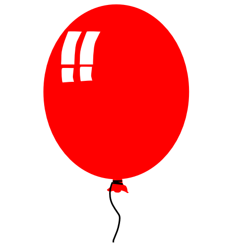 Red balloon clipart free images 2