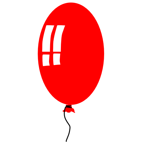 Red balloon clipart free images 3