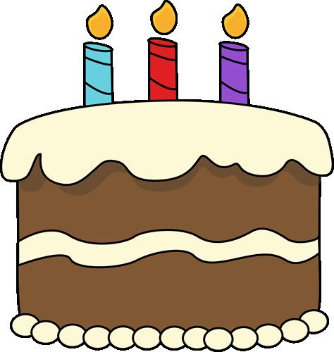 Red birthday cake clipart