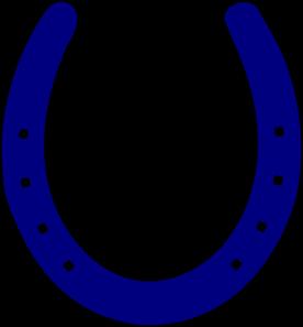 Royal blue horseshoe clip art at vector clip art