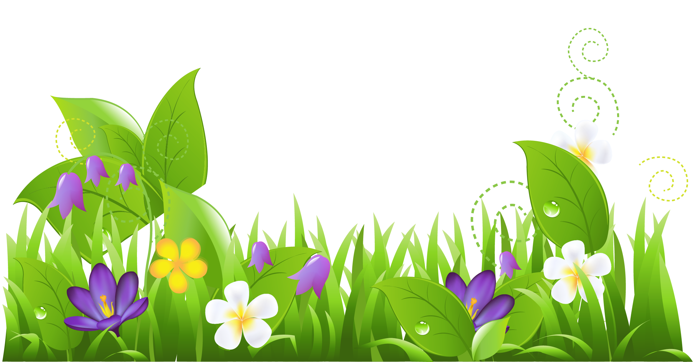 Sky and grass clipart 2