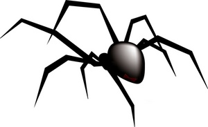 Spider clipart black and white free images 2