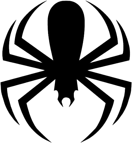 Spider clipart black and white free images 9