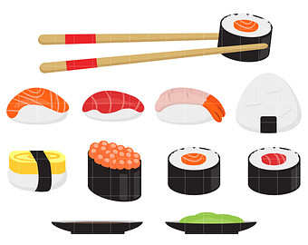 Sushi clip art free clipart images 5