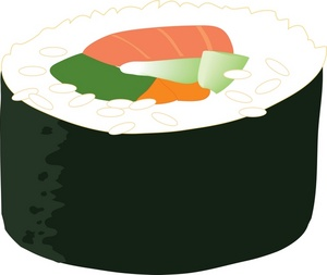 Sushi clipart free clipart images