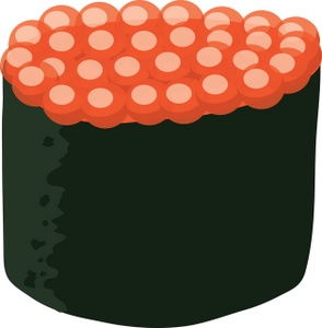 Sushi clipart image ikura fish eggs
