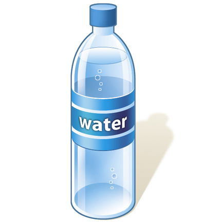 Water bottle clipart free