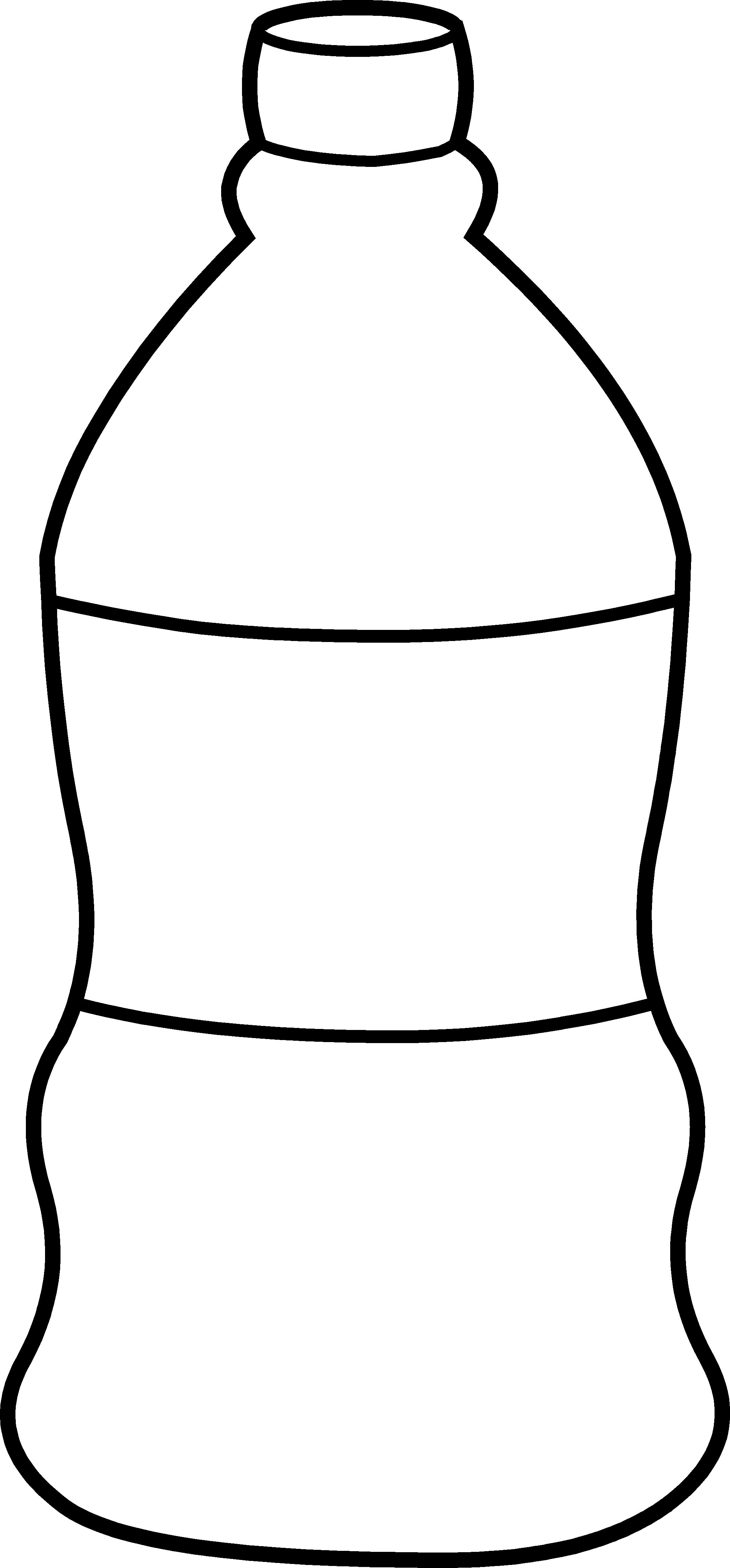 Water bottle coloring page free clipart images