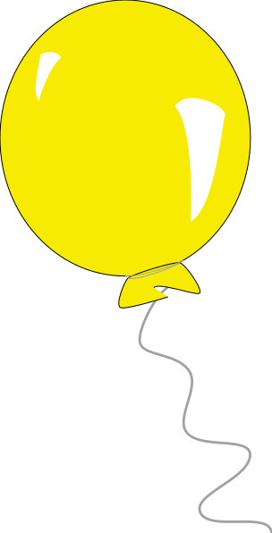 Yellow balloon clipart free images 2