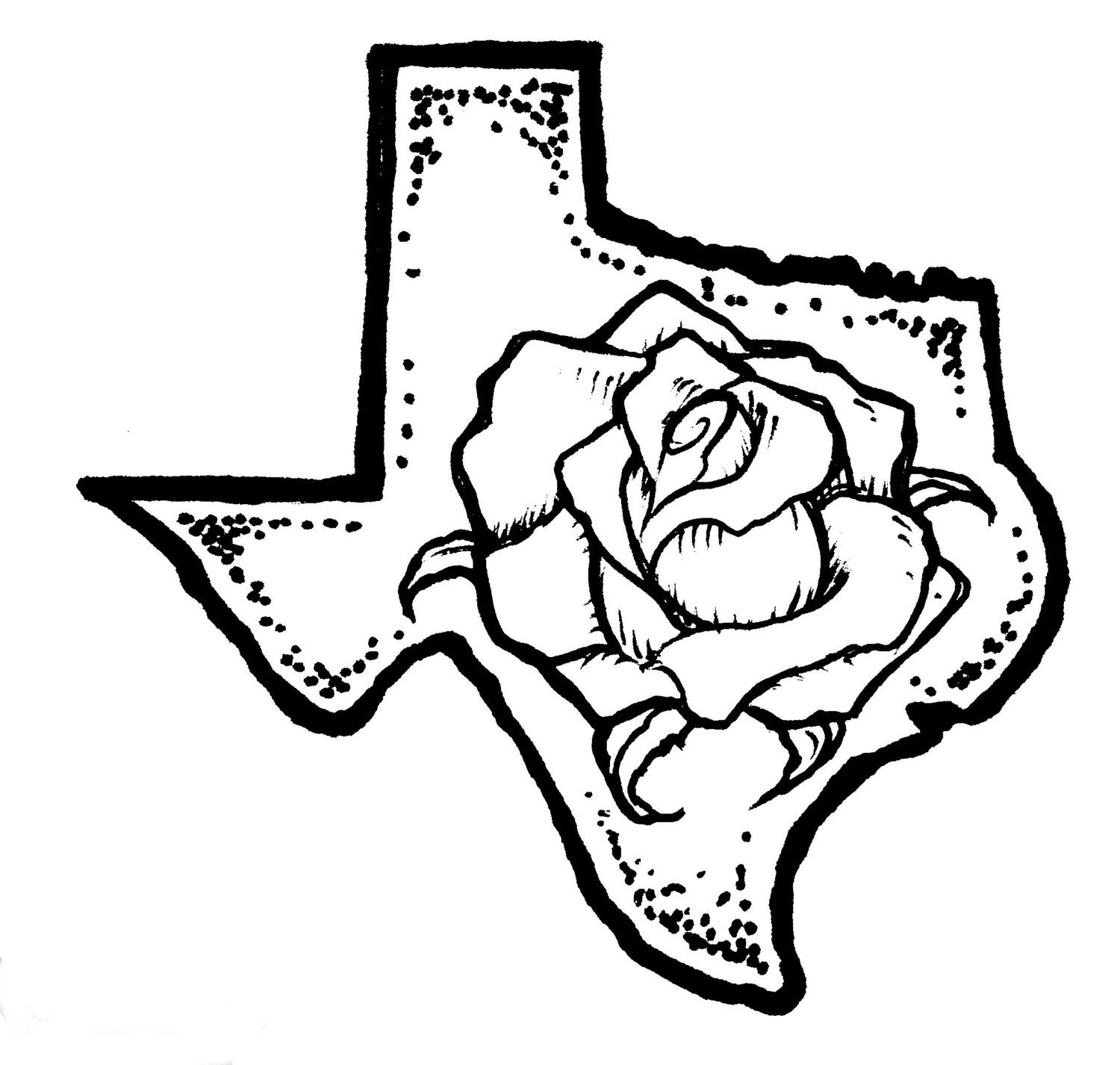 Yellow rose of texas clipart