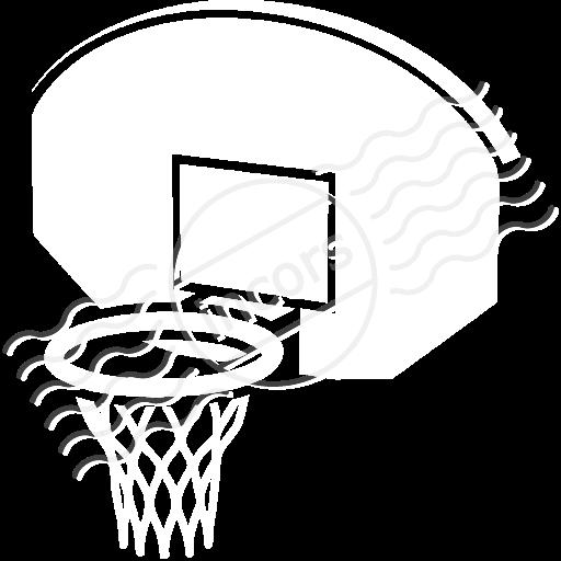 Basketball hoop backboard clipart free 2