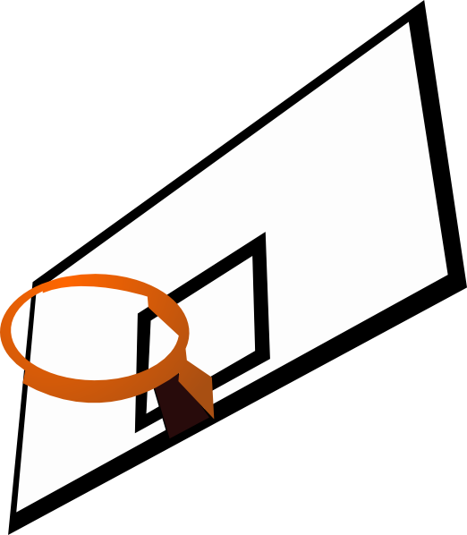 Basketball hoop clipart free images 20