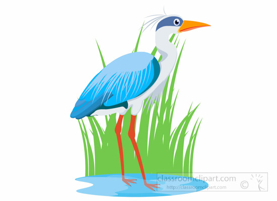 Bird clipart heron bird in lake clipart 4