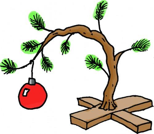 Charlie brown christmas charlie brown tree the haugh herald clip art