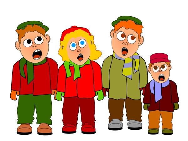 Children singing clipart 10