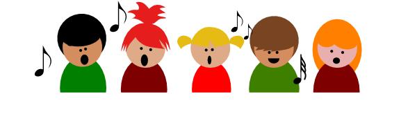 Children singing clipart 5