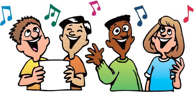 Choir singing clipart