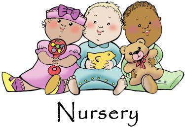 Church nursery schedule clipart