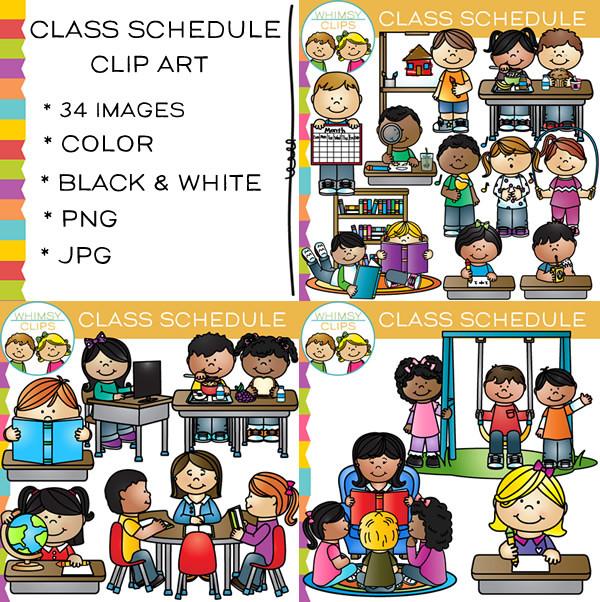 Class schedule clip art images