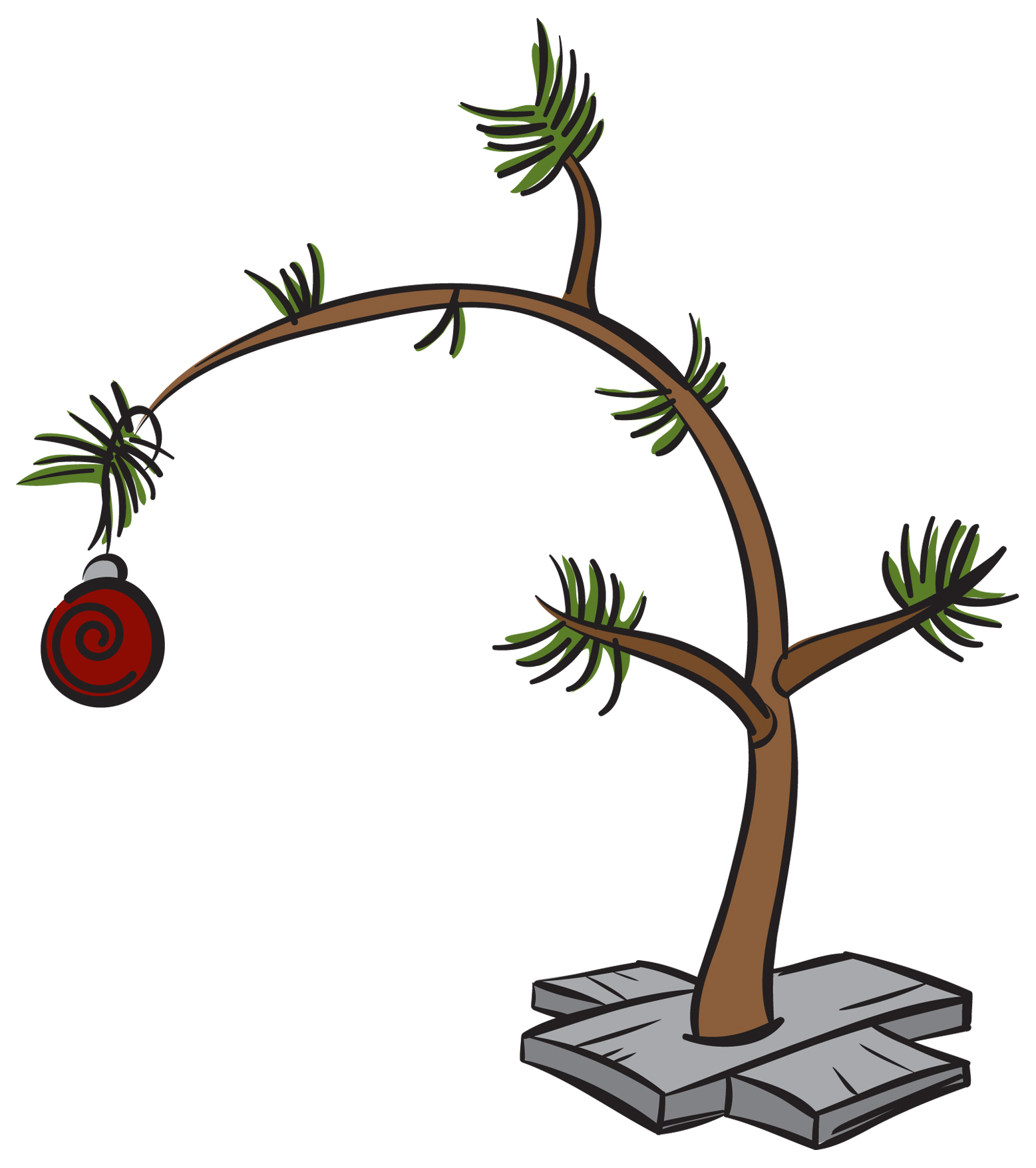 Clip art charlie brown christmas tree free 11