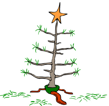 Clip art charlie brown christmas tree free 8
