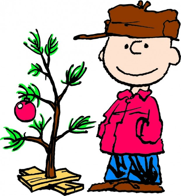 Clip art charlie brown christmas tree free