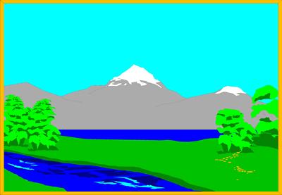 Clip art lake clipart image