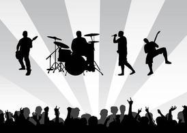 Concert clip art vector graphics
