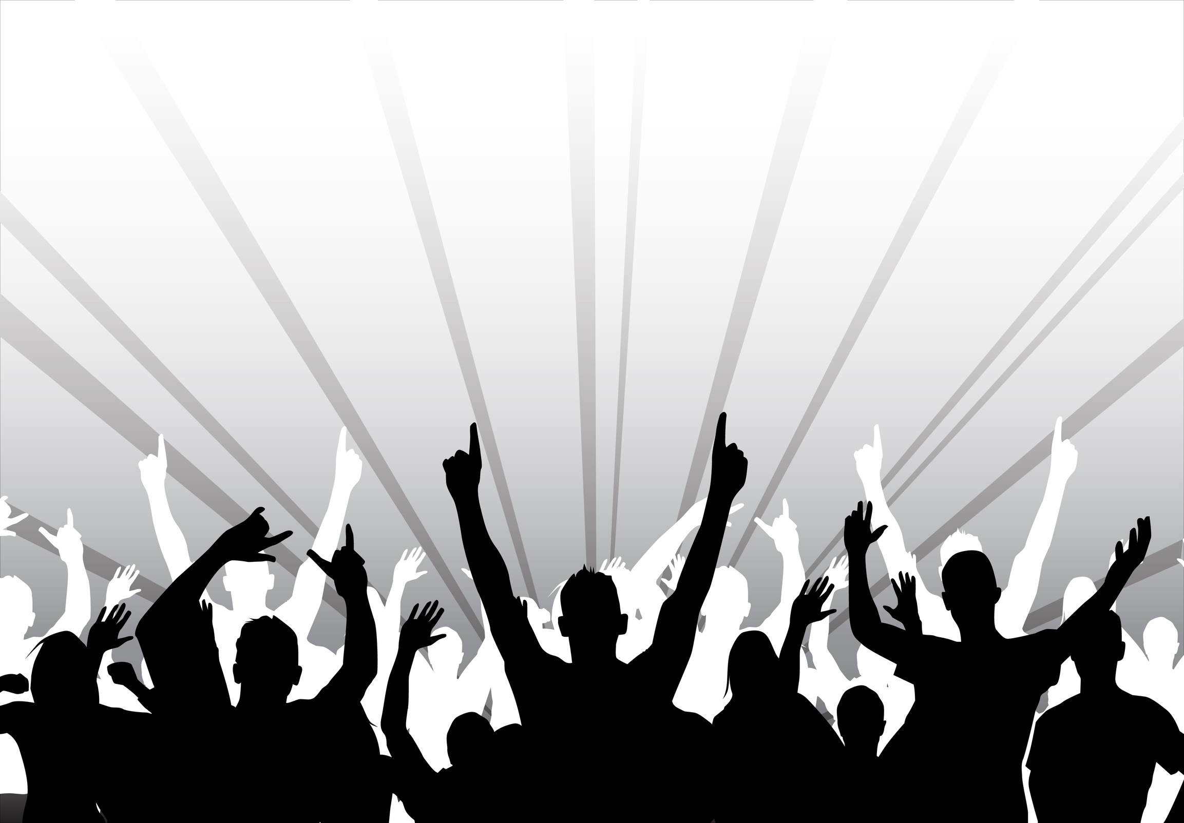 Concert crowd clip art clipart download