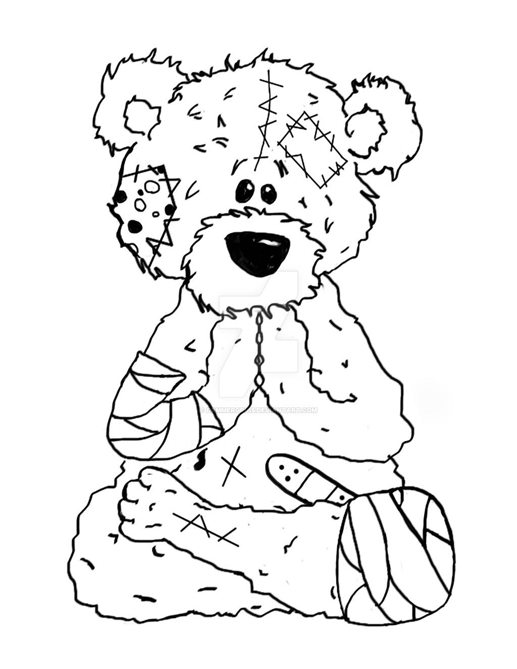 Digital art buddha teddy bear outline by drmmergrl on deviantart clip art