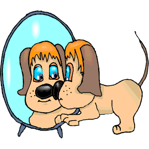 Dog in mirror clipart cliparts of free download