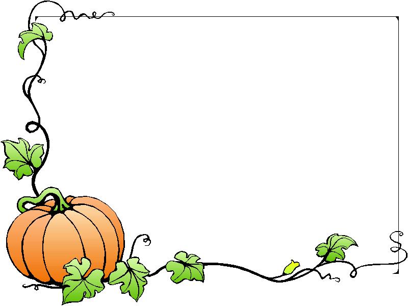 Fall pumpkin border free clipart images 3