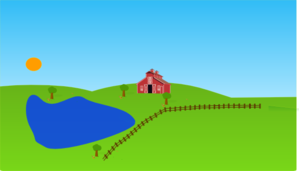 Farm with lake clip art at vector clip art 2