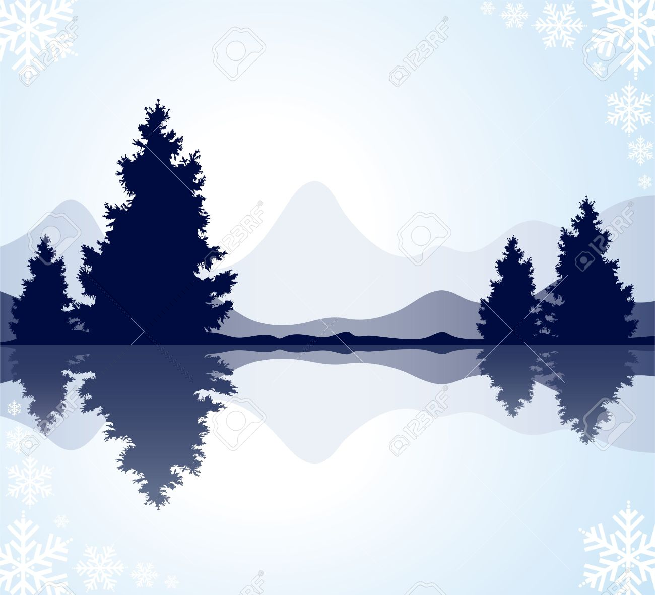 Forest and lake clip art clipart download