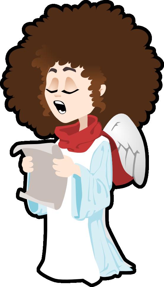 Free angel singing clip art