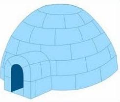 Free igloo clipart