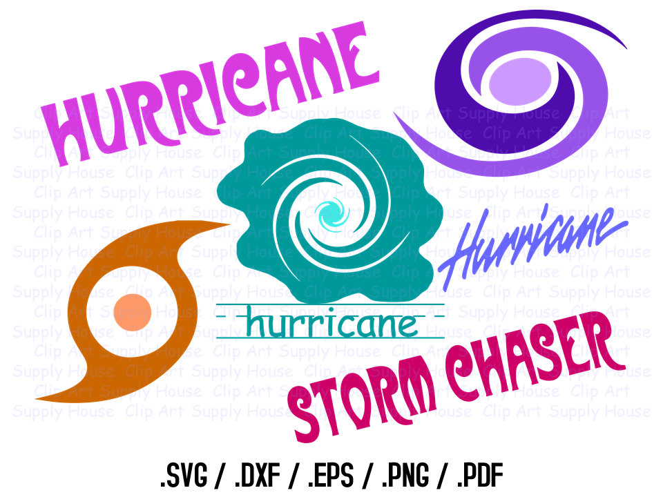 Hurricane clipart design files use with silhouette software